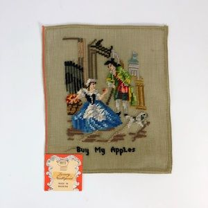 Vintage needlepoint project Buy My Apples